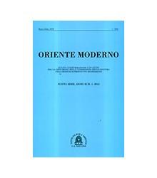 Oriente Moderno Anno XCII,...