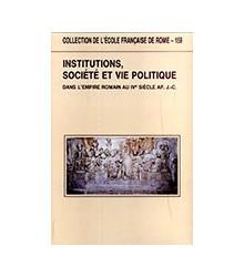 Institutions, Société et...
