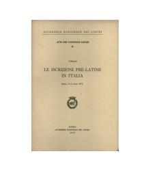 Le Iscrizioni Pre-Latine in...