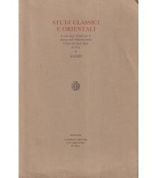 Studi Classici e Orientali